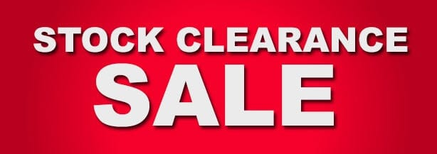 Clearance Sale NOV 2017