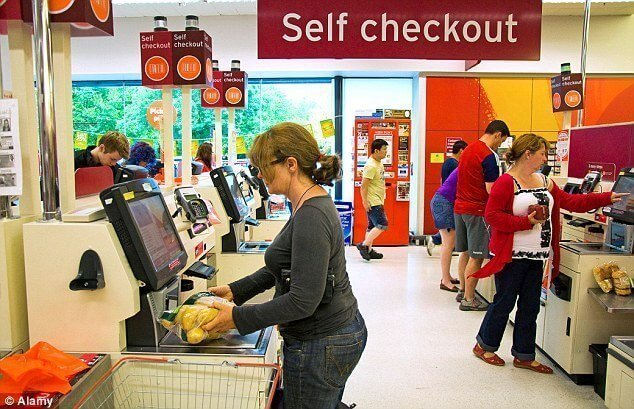 Point of sale display checkouts