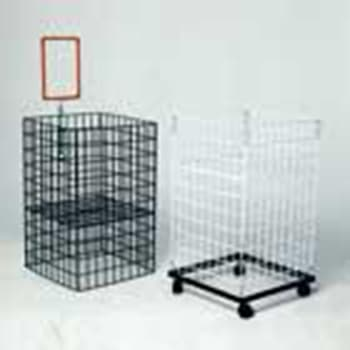 Dump Basket Collapsible White
