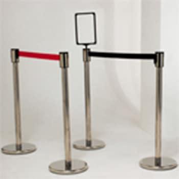 Stainless Steel Barrier Post Black Belt (1Post&Belt)