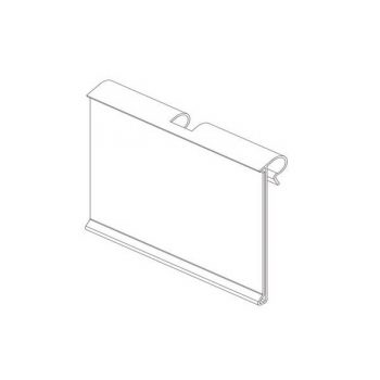 FLIPPER LABEL HOLDER 26x50mm CLEAR