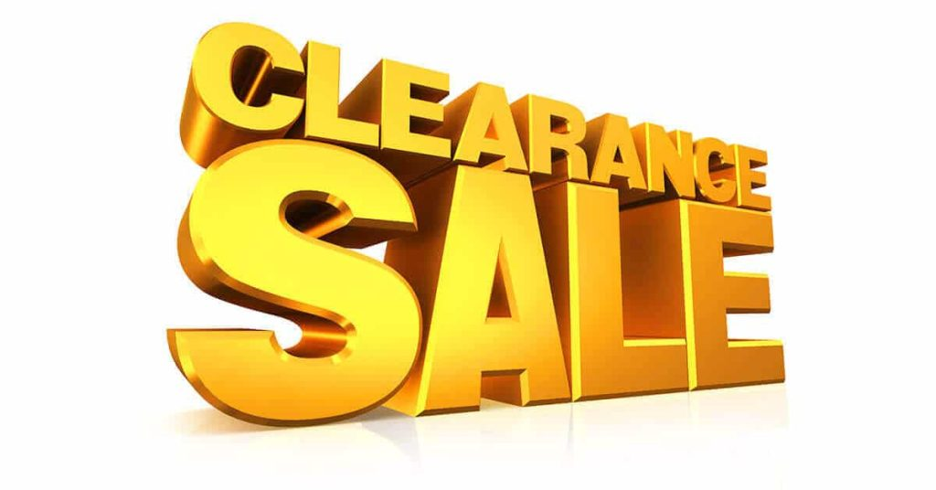 Clearance Sale Display Products