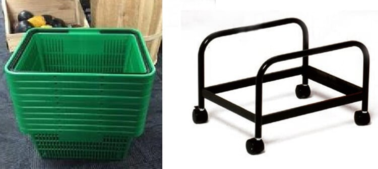 Retail Shopping Baskets with Stand