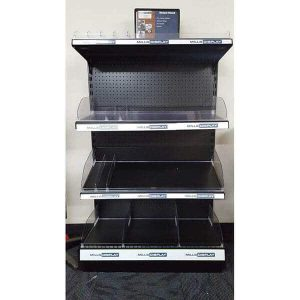 Retail Black One Sided 4 Shelf Unit
