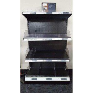 Retail Black One Sided 4 Shelf Unit