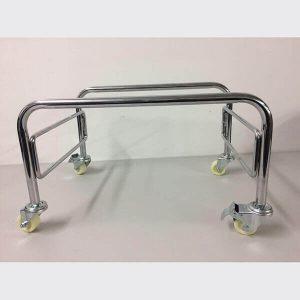 Tubular Basket Stand Chrome with Heavy Duty Castors