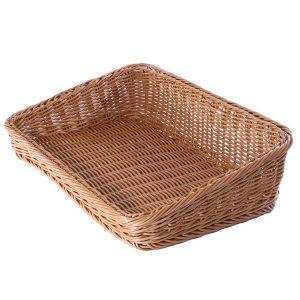 Landscape Slanted Poly Wicker Basket (Natural)
