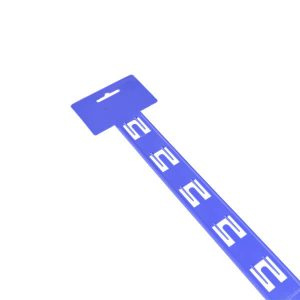 Plastic 'U'' Hang Sell 12 Station - Blue