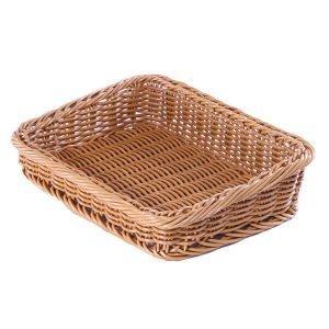Poly Wicker Basket Slanted