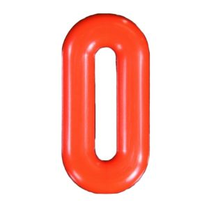 Push-in Numbers Red NO-0 Pack 20