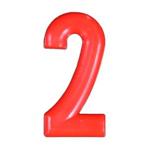Push-in Numbers Red NO-2 Pack 20