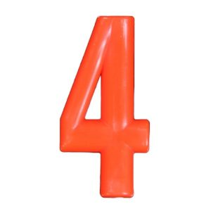 Push-in Numbers Red NO-4 Pack 20