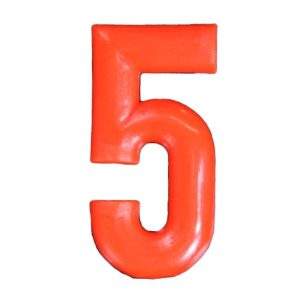 Push-in Numbers Red NO-5 Pack 20