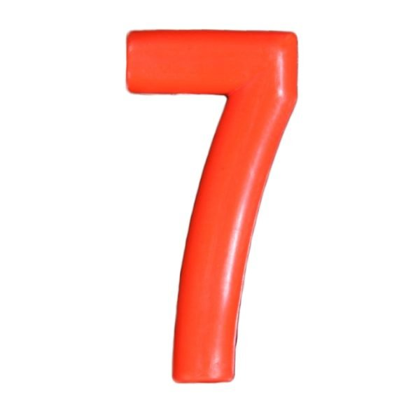Push-in Numbers Red NO-7 Pack 20