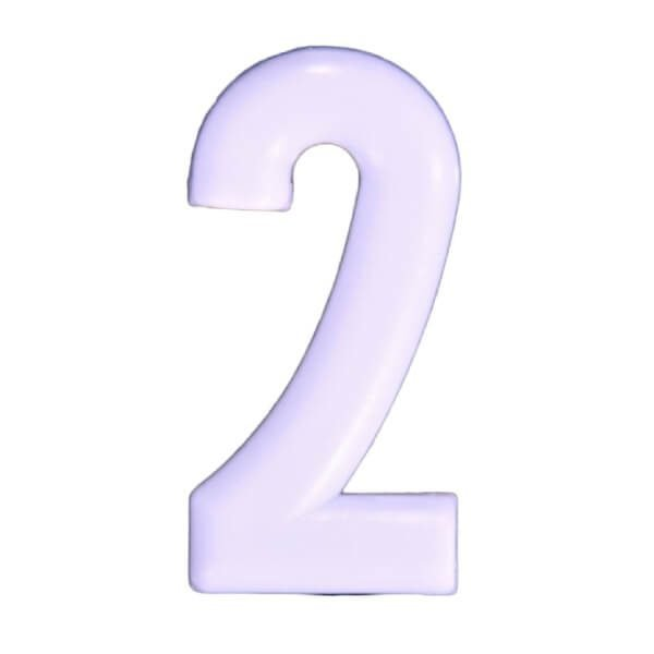 Push-in Numbers White NO-2 Pack 20