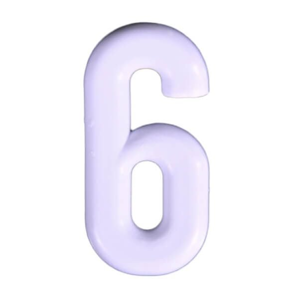 Push-in Numbers White NO-6 Pack 20