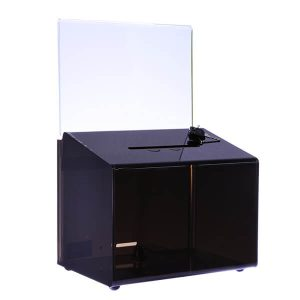 Ballot Box Rect Smoke Tint With A5 Card Holder