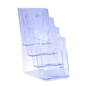Brochure Holder 4 Tier DL Portrait Free Standing
