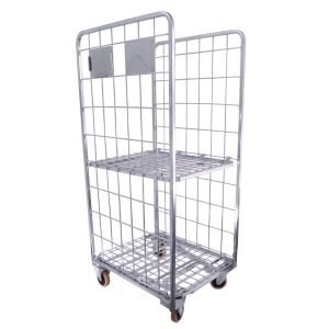 Cage Trolley 2-Sided with Shelf