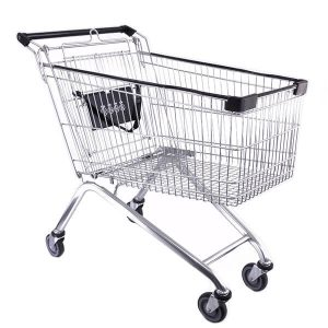 Shopping Trolley Euro 150L W Black Trim