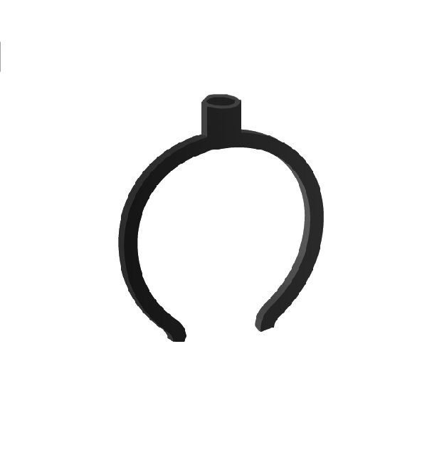 CIRCULAR CLIP BLACK 80mm